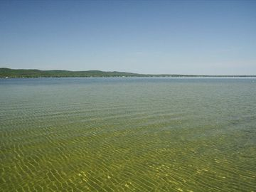 Crystal Clear, Sandy Bottom, Big Platte Lake! This view is taken from the dock.