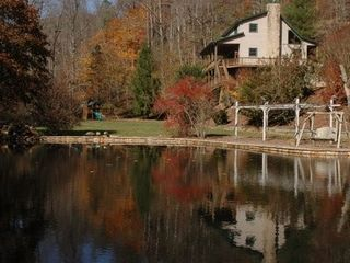 Hiawassee estate photo - KEY VIEW OF HOUSE AND REFLECTIVE POND