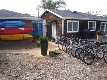 Bikes, kayaks, and surfboards!