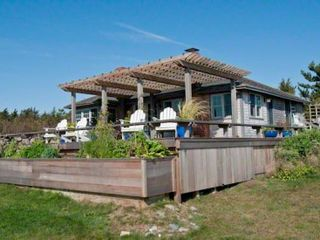 Chilmark cottage photo - Large Wraparound Deck With Pergola Enjoys Panoramic Water Views