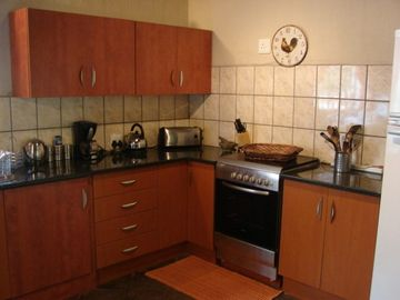 Khaya Romantica's fully equipped kitchen
