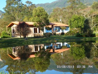 Site wide, warm calm with gourmet, lake, river with natural swimming pool