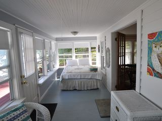 Unity cottage photo - Queen sized bed on sunporch serves as third bedroom