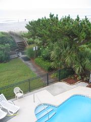 Long Bay Dunes condo photo - View from the Balcony--Pool, Dune and Beach