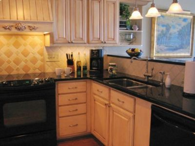 granite countertops, upgraded appliances