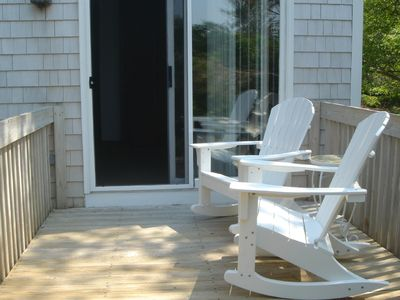Edgartown house rental - Master BR porch