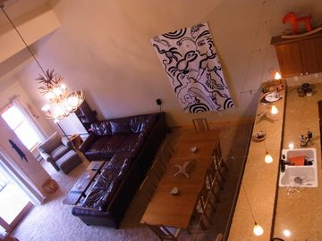 Kirkwood chalet rental - The Great Room from the loft