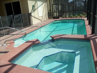 Lehigh Acres house photo - Spacious spa and pool