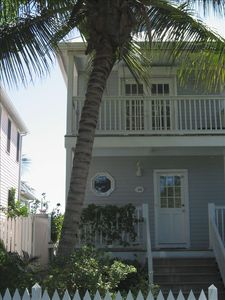 Front of Two Story Key West Golf Course Townhouse