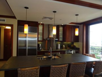 Full kitchen designed by Master Chef Roy Yamaguchi with Sub Zero & Wolf applianc