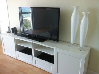 "Hollywood Beach condo photo - Large 52"" flatscreen with BluRay player in living room"