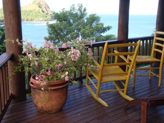 Cap Estate villa photo - Zandoli main deck looking at Pigeon Island
