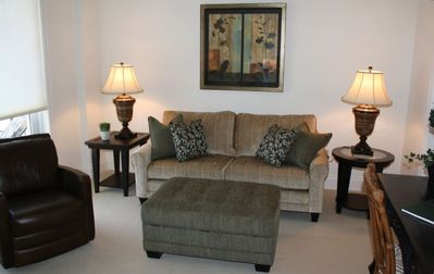 Amelia Island villa rental - Study/ Bedroom w/ Sleeper Sofa (Queen), Private Bath and Balcony