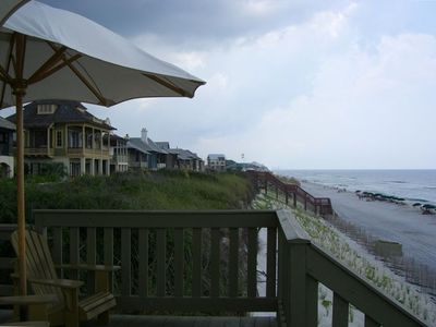 Beach view from walkover deck