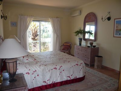 Master Bedroom overlooking beach & castle