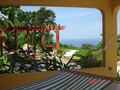 Oceanview from patio hammock