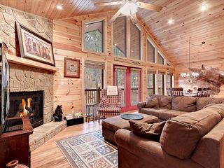 Wears Valley cabin photo - Living Room with 50' TV