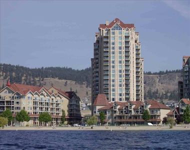 Kelowna condo rental - view of resort from water