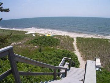 2-3 minute walk to this private Nantucket Sound beach