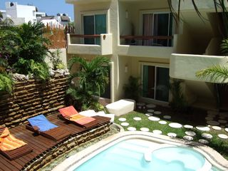 Playa del Carmen condo photo - Two second floor balconies facing pool