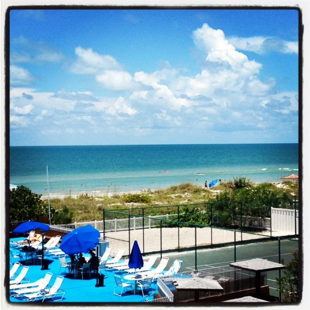 Indian Rocks Beach condo rental - Magnificent view of the Gulf of Mexico, pool deck, and tennis court from balcony