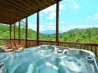 Pigeon Forge cabin photo - Hot Tub #1 BRAND NEW (8/26) 6 person hot tub with breathtaking views!