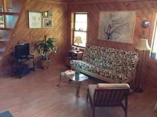 Breaux Bridge cottage photo - Cottage Living Room with wi-fi, TV with local channels, iPod dock and phone.
