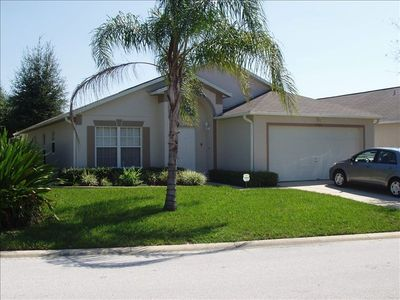 Villa Front Elevation Large Corner Lot.