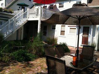 Provincetown condo photo - Our unit is above the stairs, the one with red umbrella on the second floor