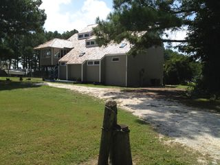 Chincoteague Island house photo - Spinnaker Beach House View from Road - REALLY ON Chincoteague Island!