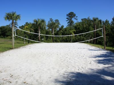 Sand volleyball.