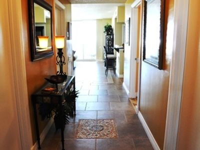Foyer Entrance with Beautiful Custom Tile
