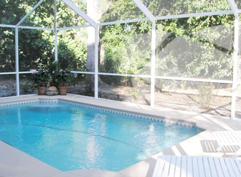 Screened In Pool : Screened heated pool outdoor grill ktchn vrbo