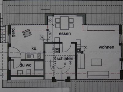 Floor plan attic apartment