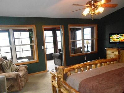 MBR King Suite (1 of 4), with Pillow-Top mattress, Sunroom, views of The Smokies