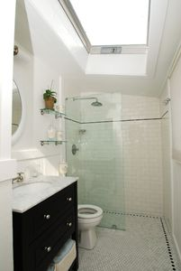 Even the bathroom has tons of natural light!
