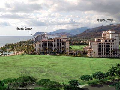 Ko Olina villa rental - There are two buildings that make up the beach villas.