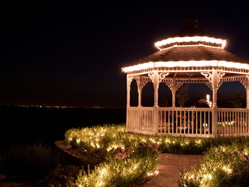 Coloma estate rental - Let us assist with creating magic.Watch the city lites come alive in the Gazebo.