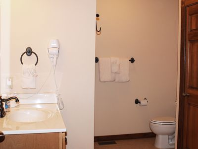 Branson lodge rental - All bathrooms have hairdryers in the case you forget yours.