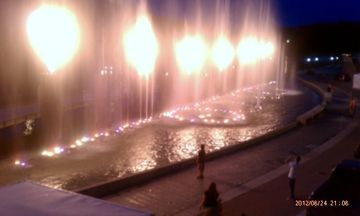 Branson Landings Fiery Water Show You almost believe your at the Ballagio.