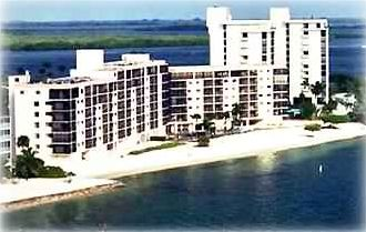 Aerial view of Carlos Pointe Beach Club