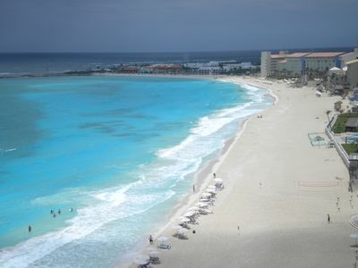 Cancun condo rental - Your view from your balcony of the penthouse studio condo! Enjoy!