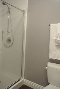 Bathroom 2(different angle) with shower stall.