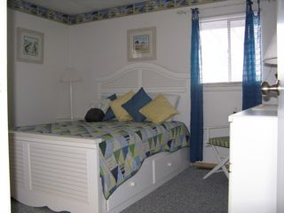 Falmouth house photo - Master bedroom has queen bed.