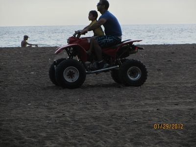 ATV on Jaco Beach by Condo. Jan. 2012