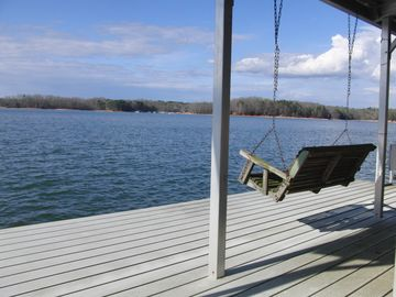 Hartwell Lake house rental - Big water view from private covered slip dock -- sunsets are amazing from here.