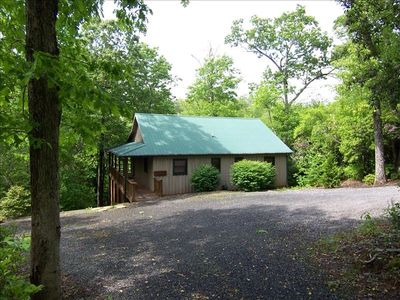 2 Bedroom 2 bath Creek Front Cabin on 1 1/4 wooded acres, could this be Paradise
