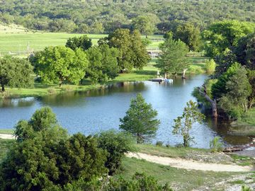 Bandera cabin rental - 7 acre lake is highlight of this private Texas Hill Country ranch