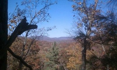View from cabin in fall