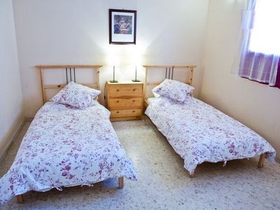 Twin beds in gite 2